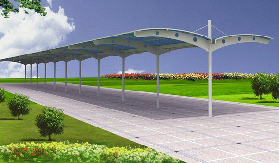 江苏安徽地区钢结构车棚设计方案和报价